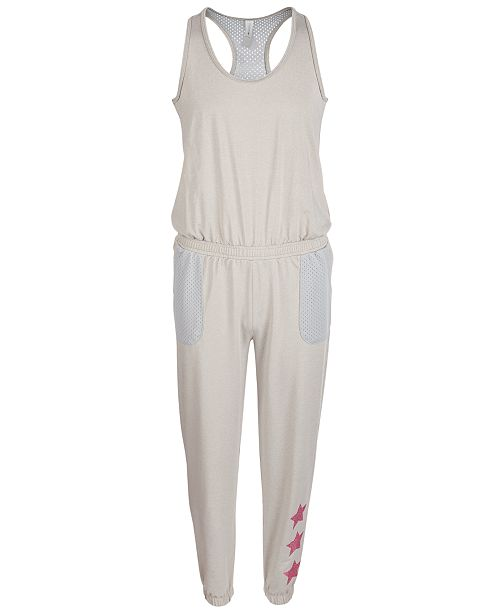Ideology Big Girls Racerback Mesh Jumpsuit, Created for Macy's