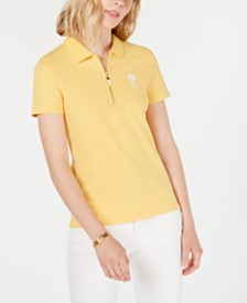 Tommy Hilfiger Zip-Neck Polo Top, Created for Macy's