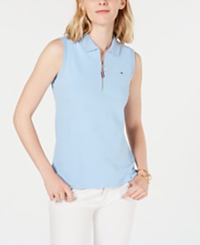 Tommy Hilfiger Sleeveless Zip Polo, Created for Macy's
