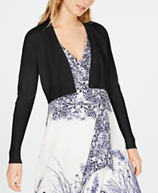 Elie Tahari Cropped Open-Front Cardigan