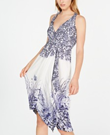 Elie Tahari Floral-Print A-Line Dress