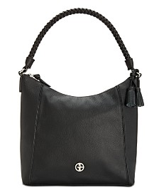 Giani Bernini Braid Handle Pebble Hobo, Created for Macy's