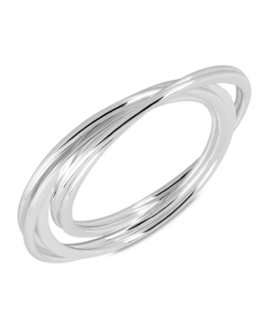Robert Lee Morris Soho Bracelets, Silver-Tone Flat Bangle Set
