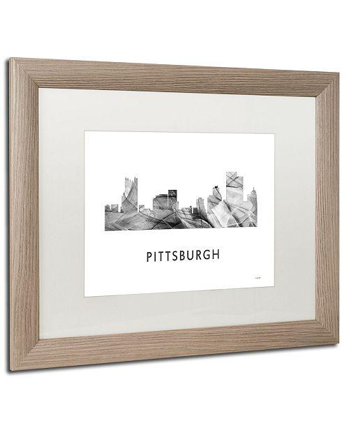 Home Decor Pittsburgh Pa: Trademark Global Marlene Watson 'Pittsburgh PA Skyline WB
