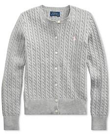 Polo Ralph Lauren Big Girls Combed Cotton Cardigan