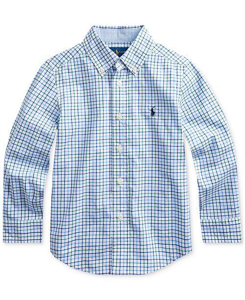 Polo Ralph Lauren Little Boys Stretch Poplin Shirt