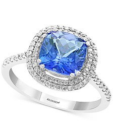 EFFY® Tanzanite (2-1/4 ct. t.w.) & Diamond (1/4 ct. t.w.) Ring in 14k White Gold