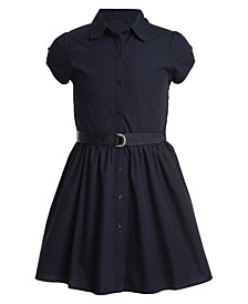 Little Girls Cotton Poplin Shirtdress