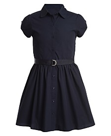 Nautica Little Girls Cotton Poplin Shirtdress