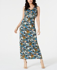 NY Collection Petite Sleeveless V-Neck Maxi Dress