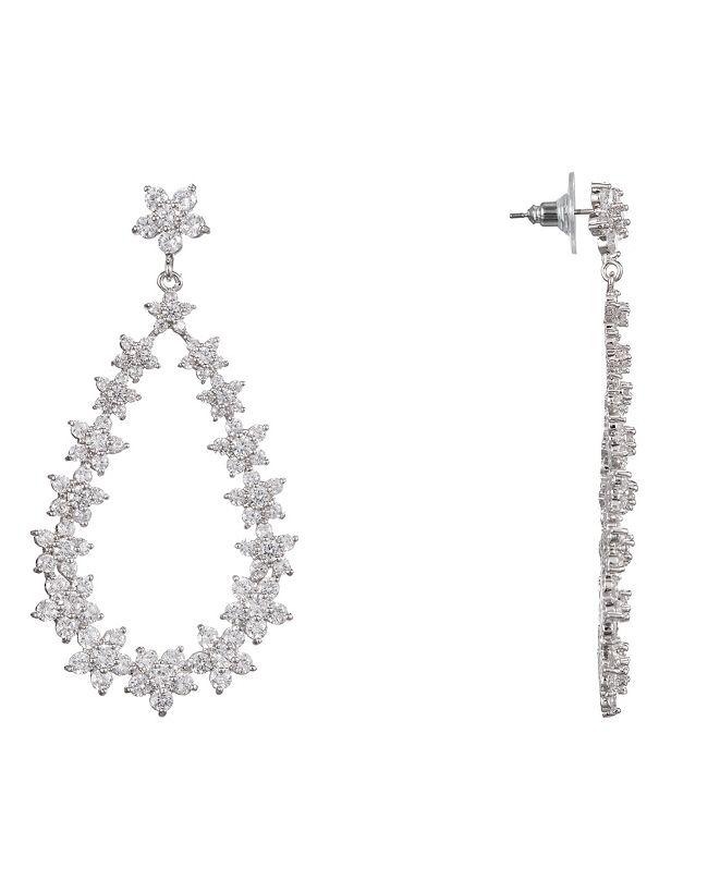 Nina Floral Open Teardrop Earrings