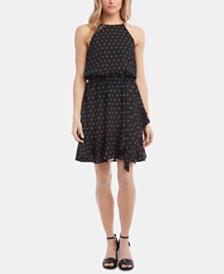 Karen Kane Ruffled Faux-Wrap Dress