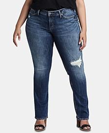 Trendy Plus Size Suki Straight-Leg Jeans