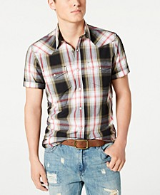 Men's Taylor Regular-Fit Plaid Western Shirt, Created for Macy's