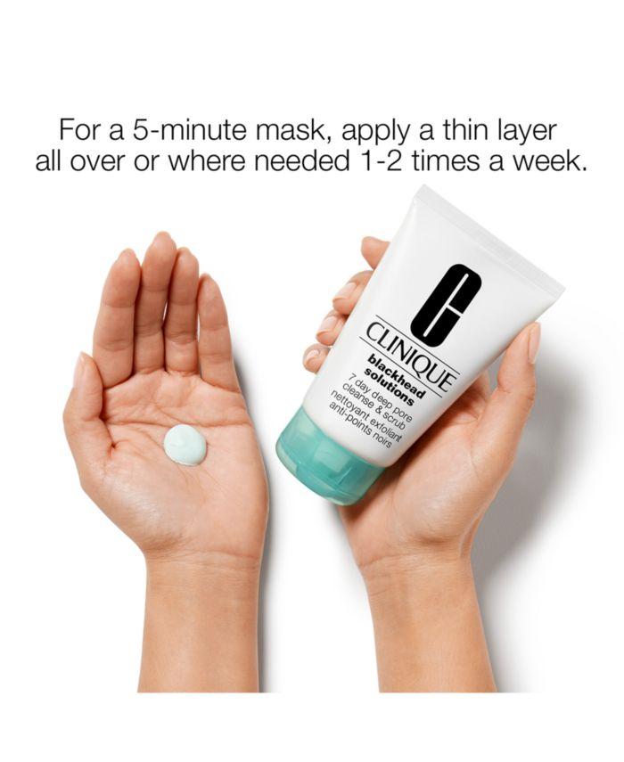 Clinique Blackhead Solutions 7 Day Deep Pore Cleanse & Scrub, 4.2-oz. & Reviews - Skin Care - Beauty - Macy's