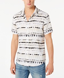 GUESS Men's Rogan Zig-Zag Stripe Shirt