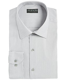 Men's Athletic Fit Performance Stretch Step Twill Textured Dress Shirt, Created for Macy's