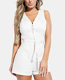 GUESS Mari Sleeveless Zip-Front Romper
