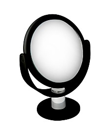 Home Details Dual Sided 10X Magnification Rubberized Vanity Mirror