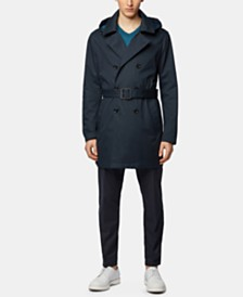 BOSS Men's Relaxed Fit Trench Coat