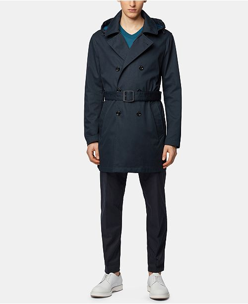 Hugo Boss BOSS Men's Relaxed Fit Trench Coat