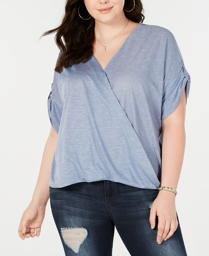 Seven7 Jeans - Trendy Plus Size Crossover Top