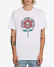 Volcom Men's Skull Flower Graphic T-Shirt