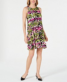 Petite Tropical Printed Dress