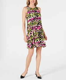 Kasper Petite Tropical Printed Dress