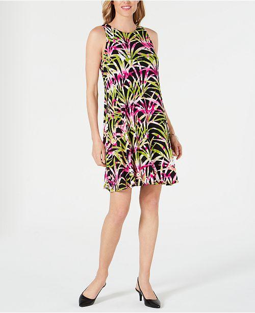 Kasper Petite Tropical Printed Dress