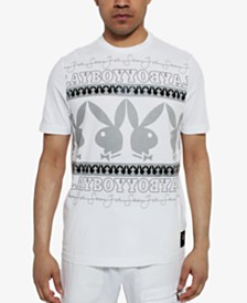 Sean John Men's Playboy Collection Wrapped Logo T-Shirt