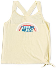 Big Girls Side Tie Cotton Tank Top