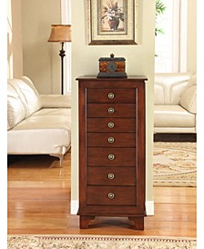 Cayman 6-Drawer Locking Jewelry Armoire