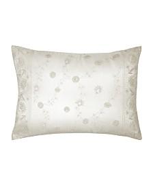 Lillian August Blue Willow Cream Emb Decorative Pillow