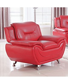 Elliot Collection Faux Leather Chair