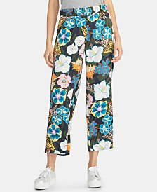 RACHEL Rachel Roy Daria Floral-Print Wide-Leg Pants