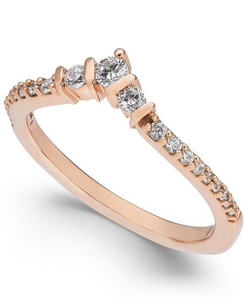 Macy's Diamond Contour Band (1/4 ct. t.w.) in 14k Gold