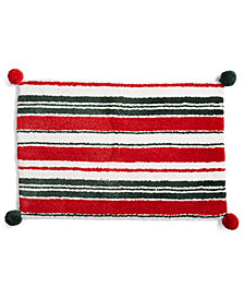 "Martha Stewart Collection Candy Stripe 20"" x 30"" Bath Rug, Created for Macy's"