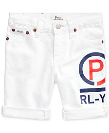 Polo Ralph Lauren Little Boys Americana Denim Cut-Off Shorts