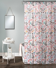 "Pixie Fox 72"" x 72"" Shower Curtain"