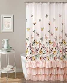"Flutter Butterfly 72"" x 72"" Shower Curtain"