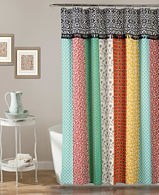 "Boho Patch 72""x70"" Shower Curtain"