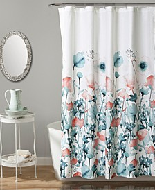 "Zuri Flora 72"" x 72"" Shower Curtain"