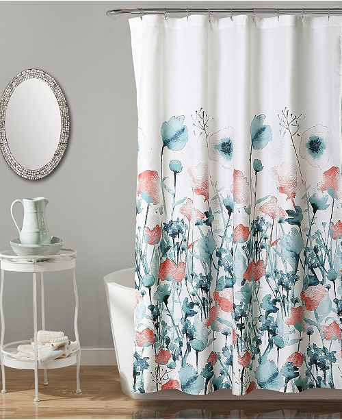 "Lush Decor Zuri Flora 72"" x 72"" Shower Curtain"