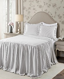 Ticking Stripe 3Pc Queen Bedspread Set