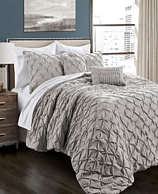 Ravello Pintuck 5-Pc. Full/Queen Comforter Set