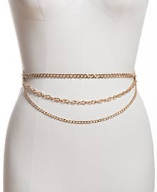 I.N.C. Medallion Triple-Chain Belt, Created for Macy's