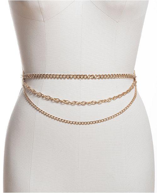INC International Concepts I.N.C. Medallion Triple-Chain Belt, Created for Macy's