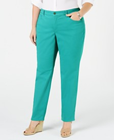 Charter Club Plus Size Bristol Tummy-Control Skinny Jeans, Created for Macy's