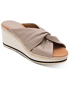 Prune Wedge Sandals